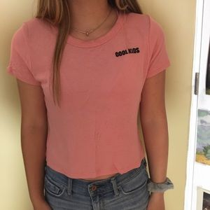 """Other - Pink """"Cool Kids"""" tee"""